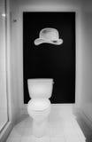 Salle de bains noire et blanche Photo stock