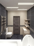 Salle de bains principale dans le style moderne illustration de vecteur