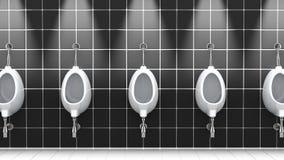 Salle de bains publique, illustration 3d Photos stock