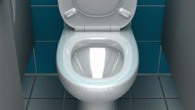 Salle de bains publique, illustration 3d Photographie stock
