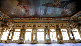 Salle de bal au domaine de Kuskovo, Moscou, Russie photographie stock libre de droits