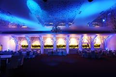 Salle de bal de mariage, couleur bleue Photo libre de droits