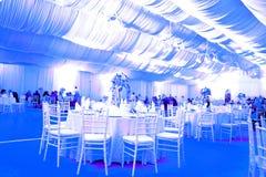 Salle de bal de mariage, couleur bleue Images stock