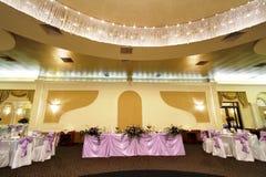 Salle de bal Wedding ou de banquet Images libres de droits