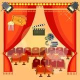 Salle de cinéma Photo stock