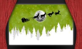 Salle de cinéma avec Santa Claus Photos stock