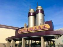 Salle de cinéma de Cinemark 17 image stock