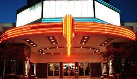 Salle de cinéma de cru Photo stock