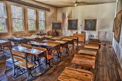 Salle de classe élémentaire d'académie des syndicats préservée au village d'héritage dans Largo Image stock