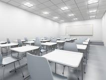 Salle de classe blanche moderne Images libres de droits