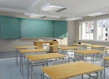 salle de classe 3d illustration libre de droits