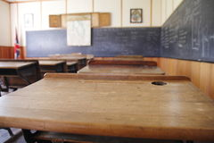 Salle de classe d'après-guerre Photographie stock