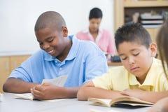 Salle de classe d'école primaire Images libres de droits