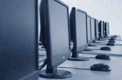 Salle de classe d'ordinateur Images libres de droits