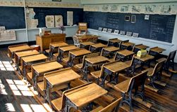 Salle de classe de vieille école Image libre de droits