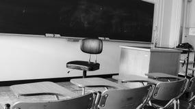 Salle de classe noire et blanche Photo stock