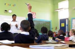 Salle de classe respectueuse image libre de droits