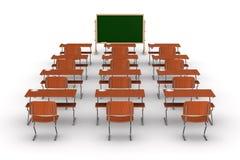 Salle de classe sur le fond blanc. 3D d'isolement illustration libre de droits