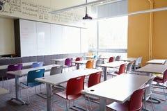 Salle de classe vide d'école Photo stock