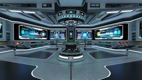 Salle de commande illustration stock illustration du for Interieur vaisseau spatial