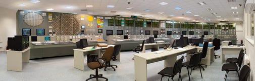 Salle de commande - centrale nucléaire image libre de droits