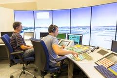 Salle de commande d'aéroport Image stock