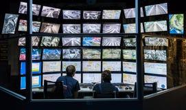 Salle de commande de la disposition russe grande d'attraction Photos libres de droits