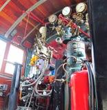 Salle de commande de locomotive à vapeur Photo stock
