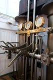 Salle de commande de moteur de bateau de vapeur photo libre de droits
