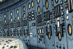 Salle de commande lumineuse d'une centrale image libre de droits