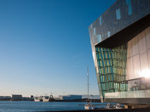 Salle de concert de Reykjavik d'†de Harpa «et Centre de conférences Photo libre de droits