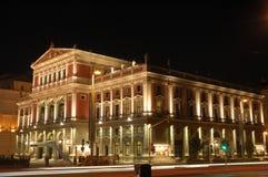 Salle de concert de Vienne la nuit Lizenzfreies Stockbild