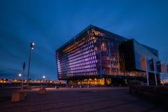 Salle de concert de Harpa, Islande photographie stock libre de droits