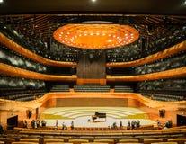 Salle de concert moderne dans Katowice, Pologne Photographie stock libre de droits