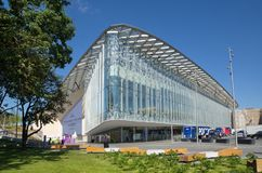 Salle de concert de Moscou Zaryadye, Russie images stock