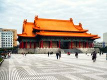 Salle de concert national, place de liberté de Liberty Square aka, Taip photographie stock