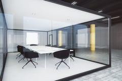 Salle de conférence en verre moderne Images libres de droits
