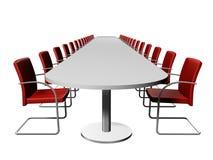 Salle de conférence, longue table Photos stock