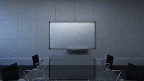 Salle de conférence, séance de réflexion, appareil-photo mobile en avant, présentation avant de conseil blanc Passerelle de compa illustration libre de droits