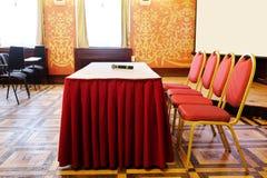 Salle de conférence vide Photographie stock