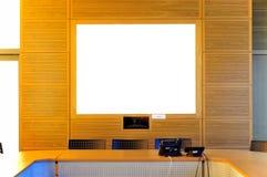Salle de conférence vide de bureau Photographie stock libre de droits
