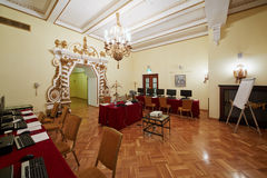 Salle de conférences Orlikov dans l'hôtel Hilton Leningradskaya Image stock
