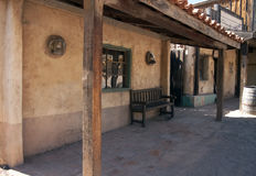 salle de cowboy de cantina vieille occidentale images libres de droits