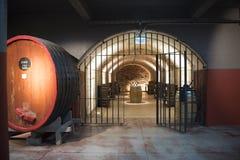 Salle de dégustation dans la cave Image libre de droits