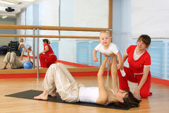 Salle de gymnastique Photo stock