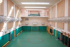 Salle de gymnastique d'école Photos libres de droits