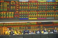 Salle de marché de l'échange de Chicago Mercantile, Chicago, l'Illinois Photos stock