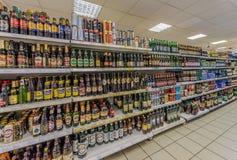 Salle de marché du supermarché Photo stock