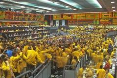 Salle de marché de l'échange de Chicago Mercantile, Chicago, l'Illinois Photos libres de droits