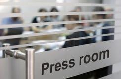 Salle de presse Photographie stock